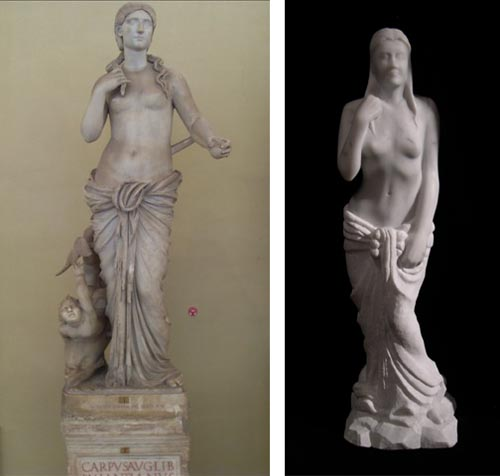 picture of Roman antiquity and Binkley portrait sculpture