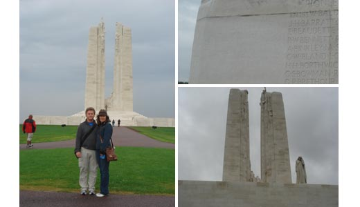 vimy ridge memorial to canadian soldiers, france