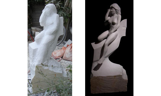 female nude marble sculpture