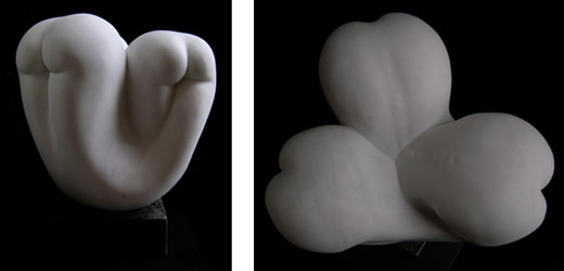 abstract female nude marble sculpture