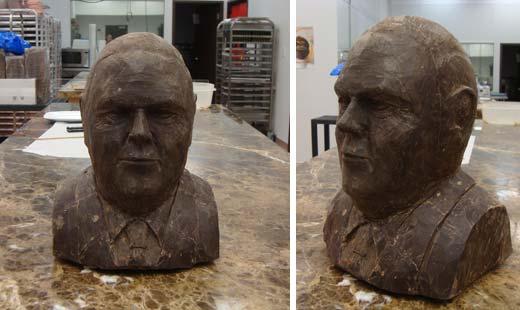 binkley sculpture chocolate portrait bust