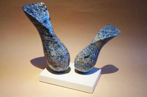 michael binkley abstract granite sculpture