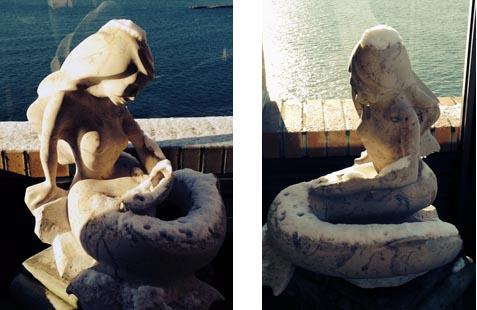 michael binkley stone sculpture mermaid vancouver canada