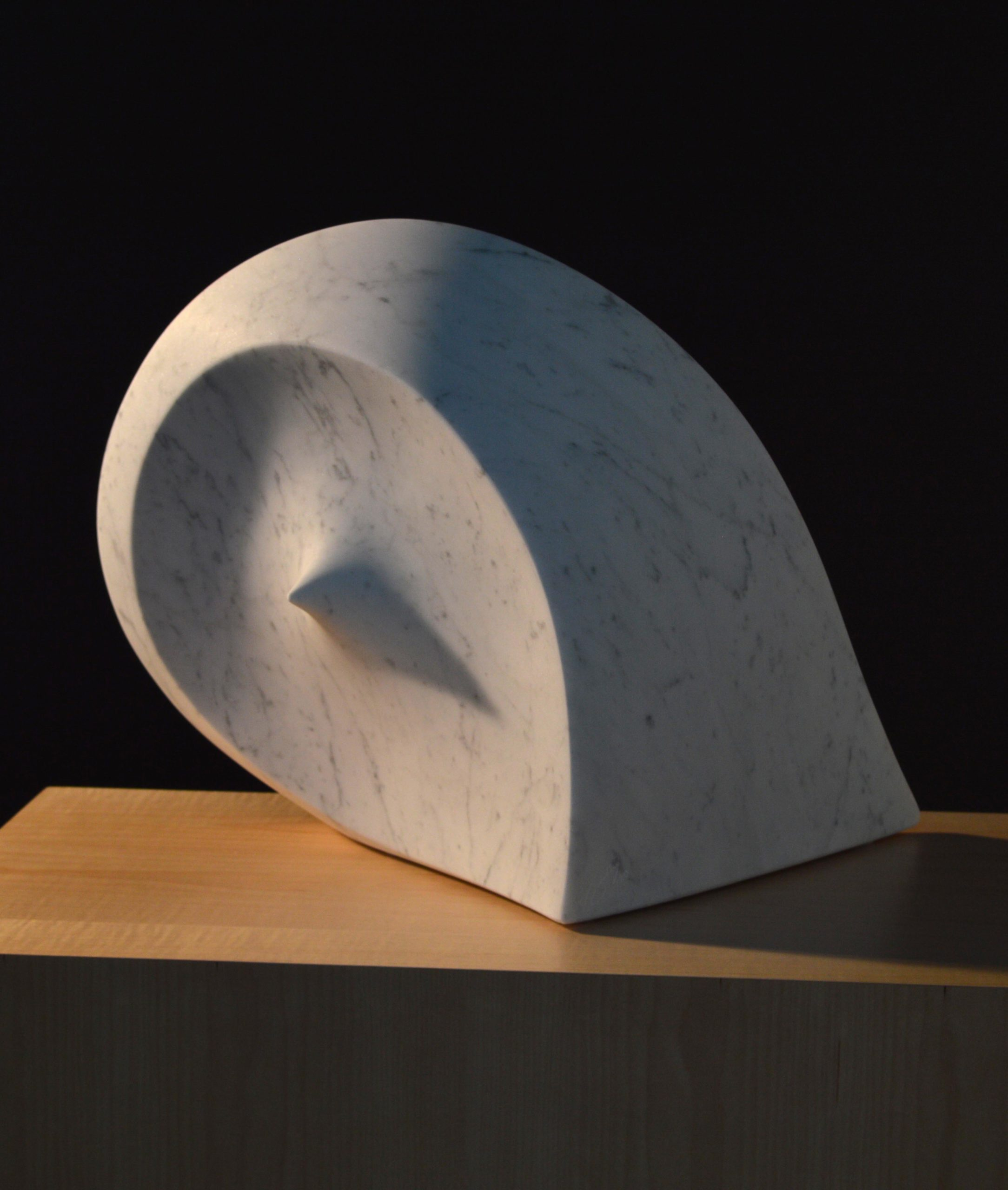 michael binkley sculptor stone sculpture abstract marble wave