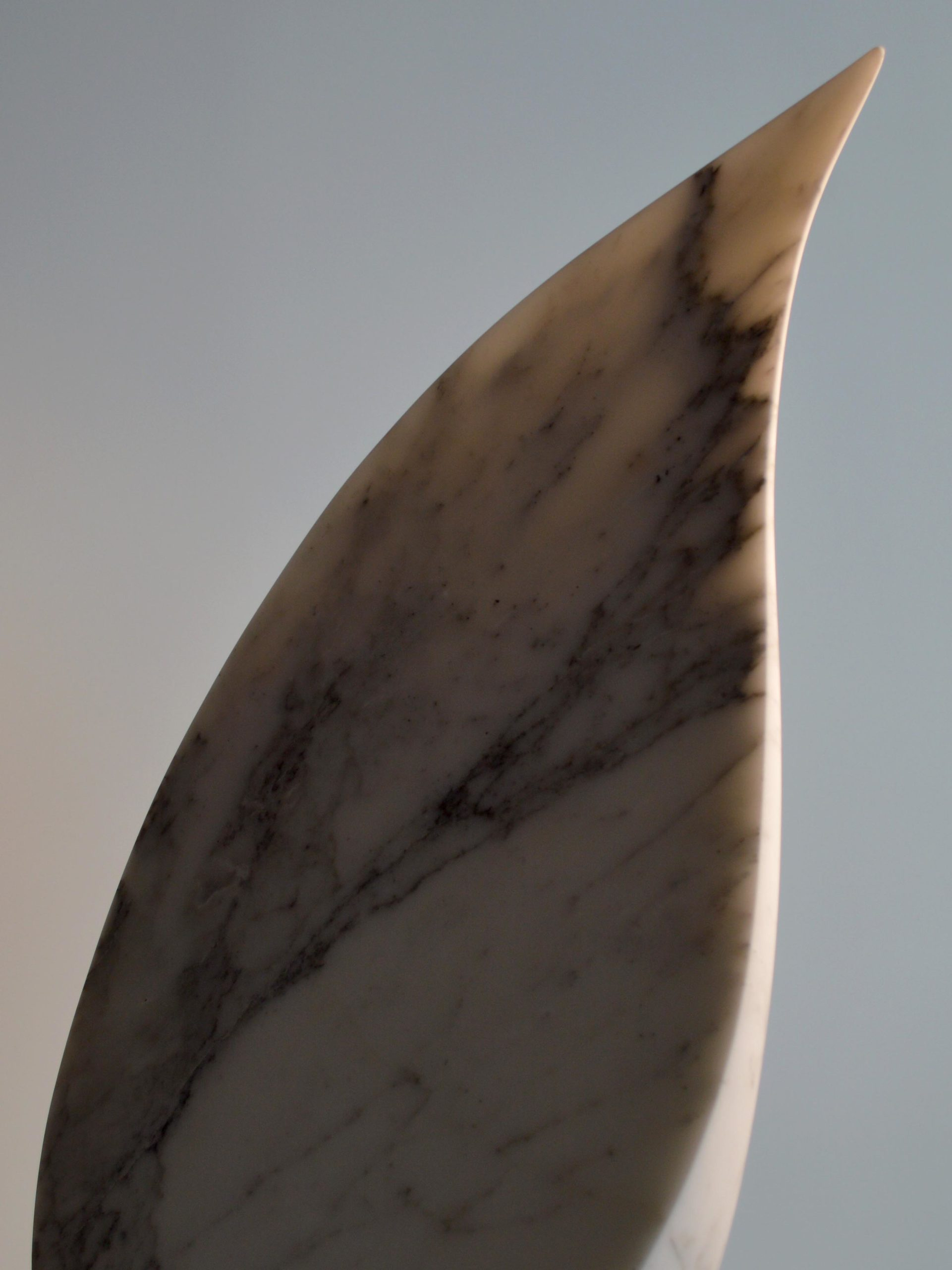 michael binkley sculptor stone sculpture abstract leaves fine art carrara marble vancouver canada