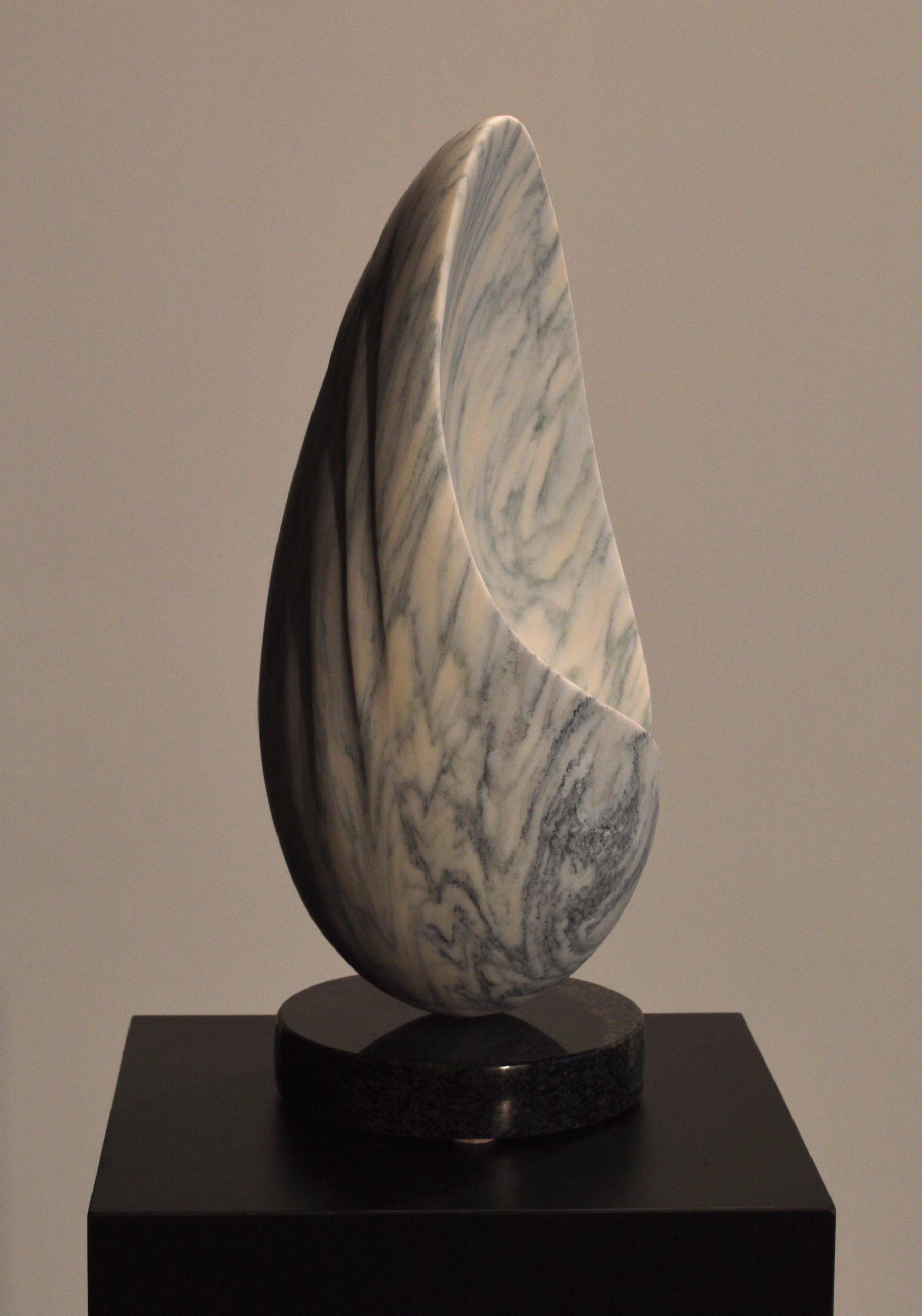 michael binkley sculptor stone sculpture abstract egg shell carrara marble vancouver canada
