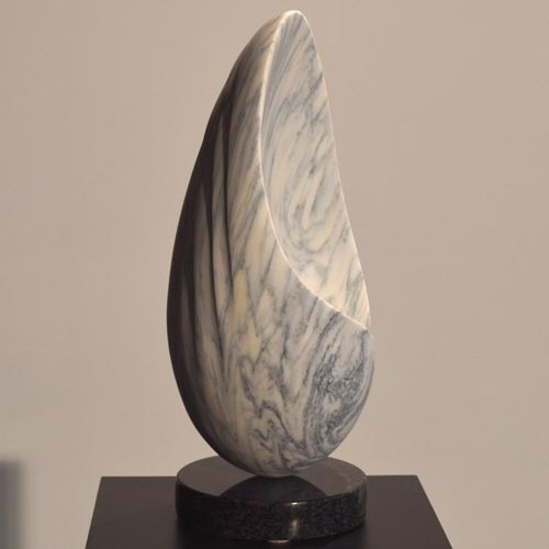 michael binkley sculptor stone sculpture abstract egg shell carrara marble vancouver canada