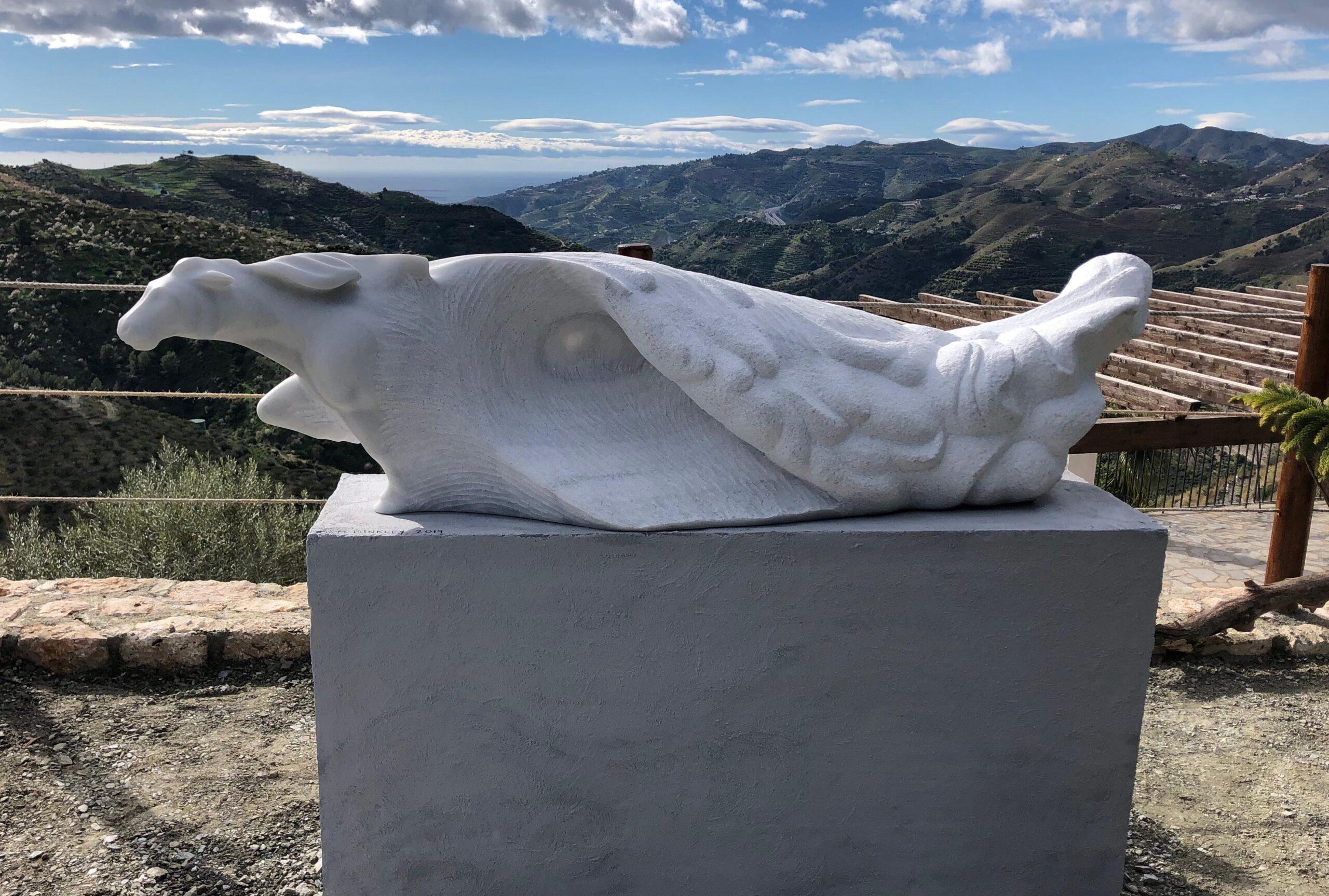 michael binkley sculptor stone sculpture artist horse marble wildlife statue vancouver canada