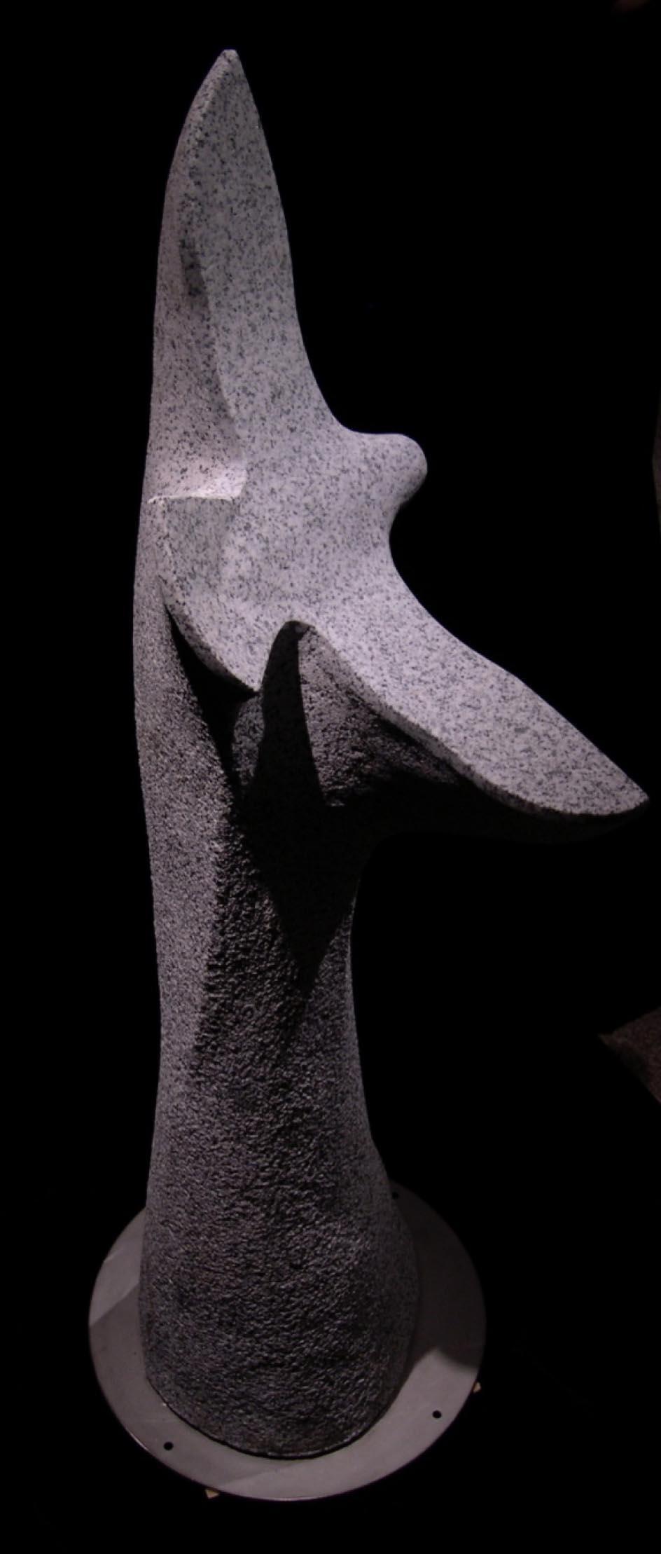 michael binkley sculptor stone sculpture artist peregrine falcon granite statue vancouver canada