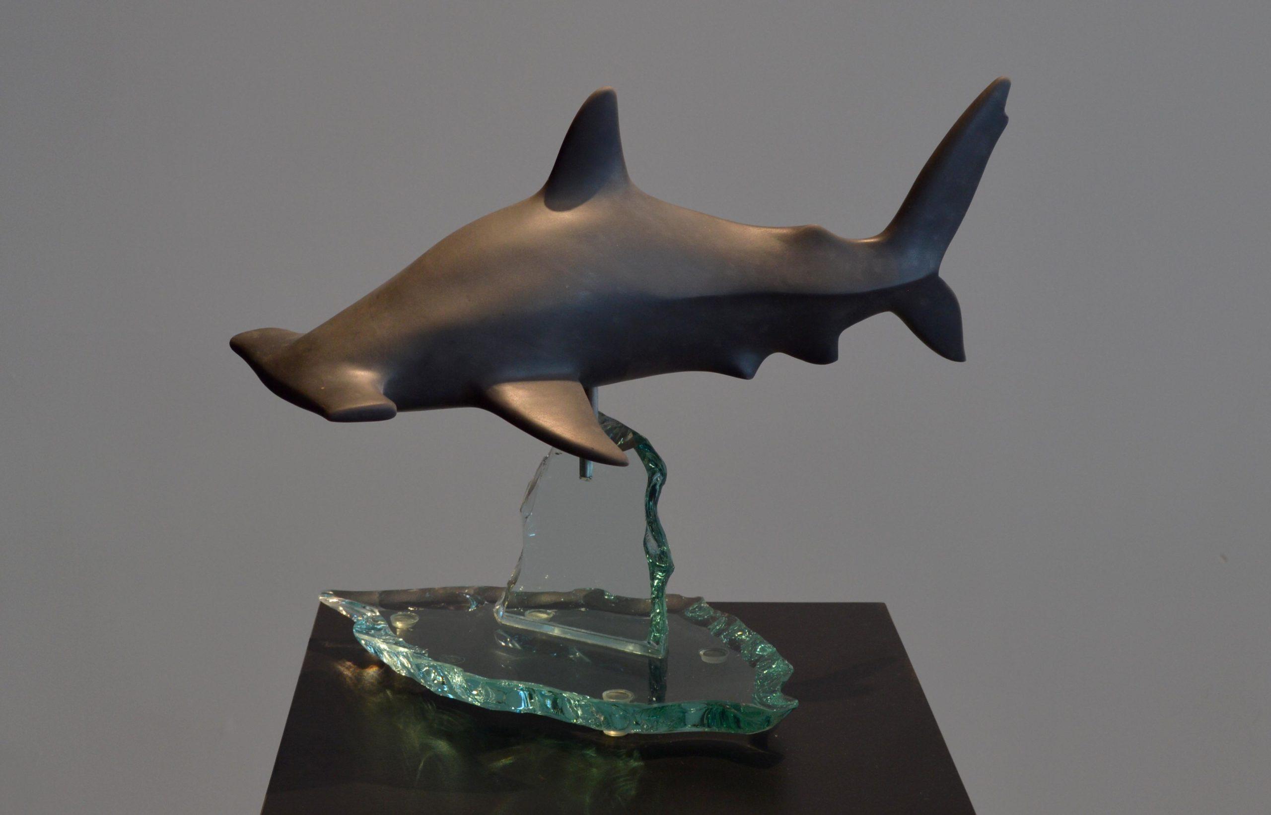 michael binkley sculptor stone sculpture hammerhead shark fine art carrara marble vancouver canada