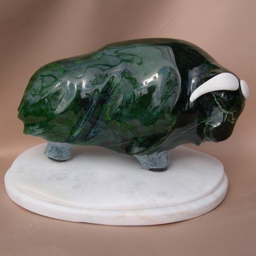 michael binkley sculptor stone sculpture artist muskox nephrite jade statue vancouver canada