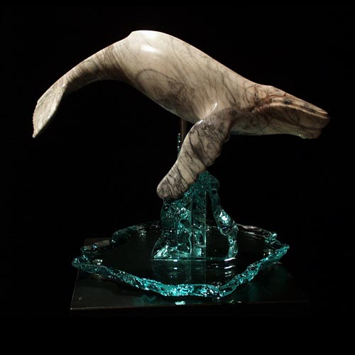 michael binkley sculptor stone sculpture artist humpback whale wildlife marble statue vancouver canada