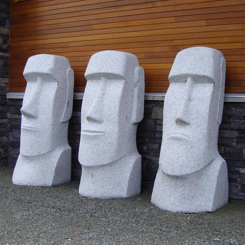 michael binkley sculptor stone sculpture moai easter island fine art carrara marble vancouver canada