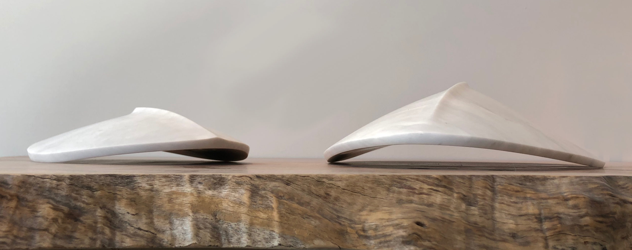 michael binkley sculptor stone sculpture abstract alien ship fine art carrara marble vancouver canada