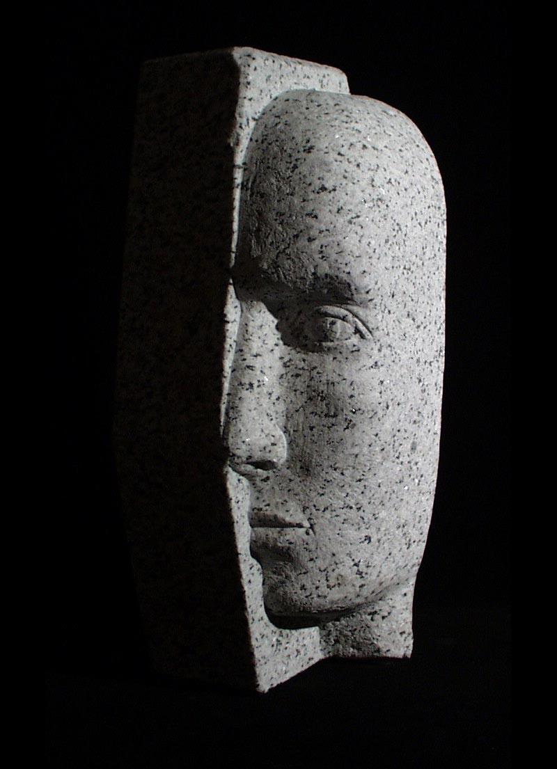 michael binkley sculptor stone sculpture artist granite figurative face statue vancouver canada