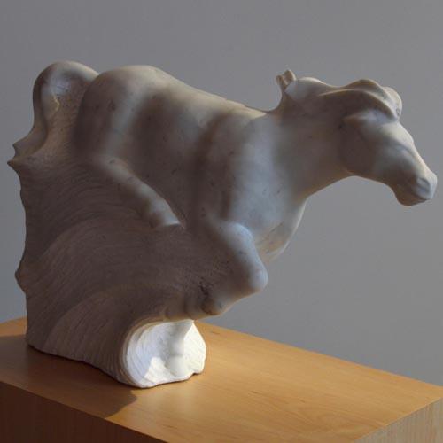 michael binkley sculptor stone sculpture horse equine fine art carrara marble vancouver canada