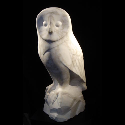 michael binkley sculptor stone sculpture artist barn owl wildlife marble statue vancouver canada