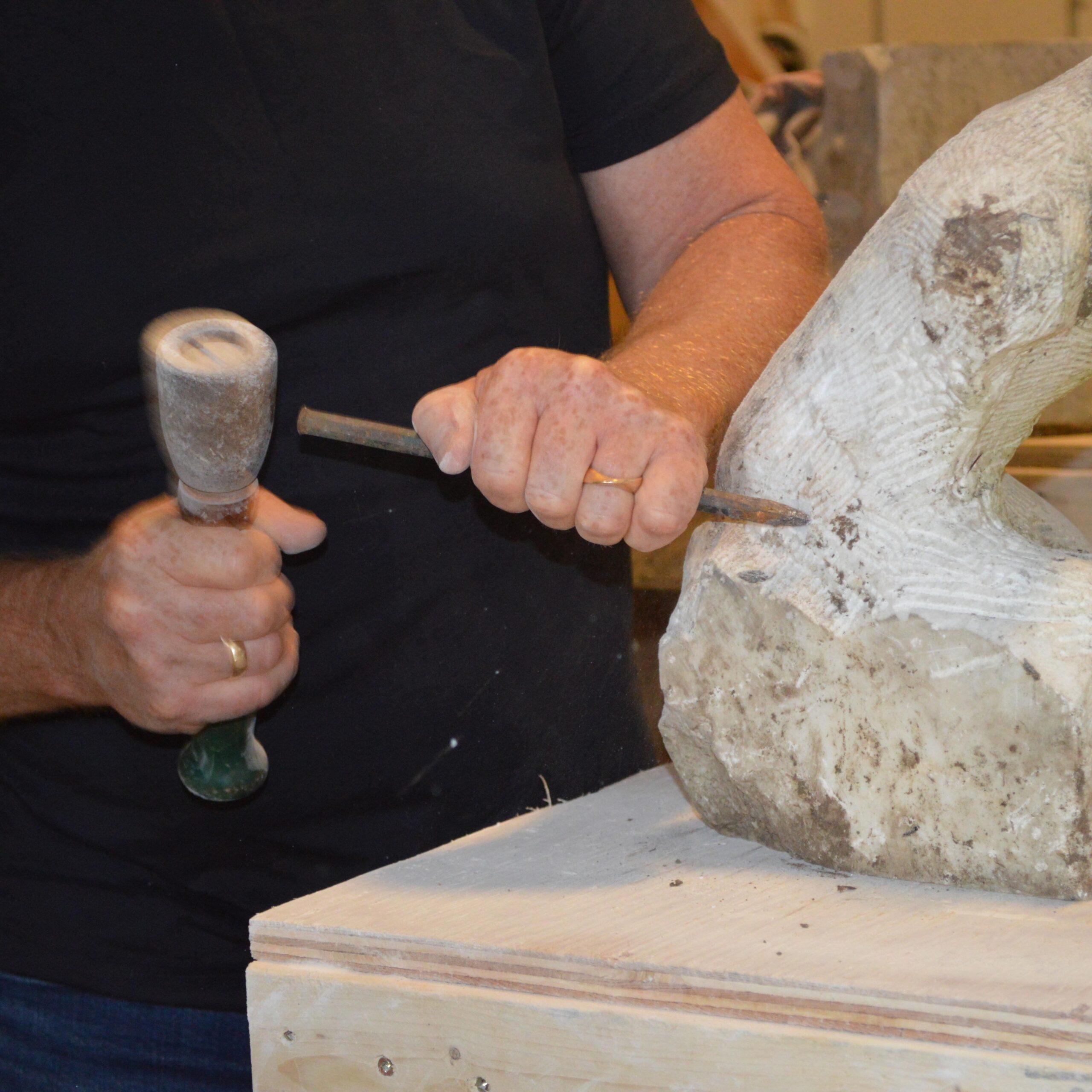 michael binkley sculptor stone sculpture workshop studio squamish canada