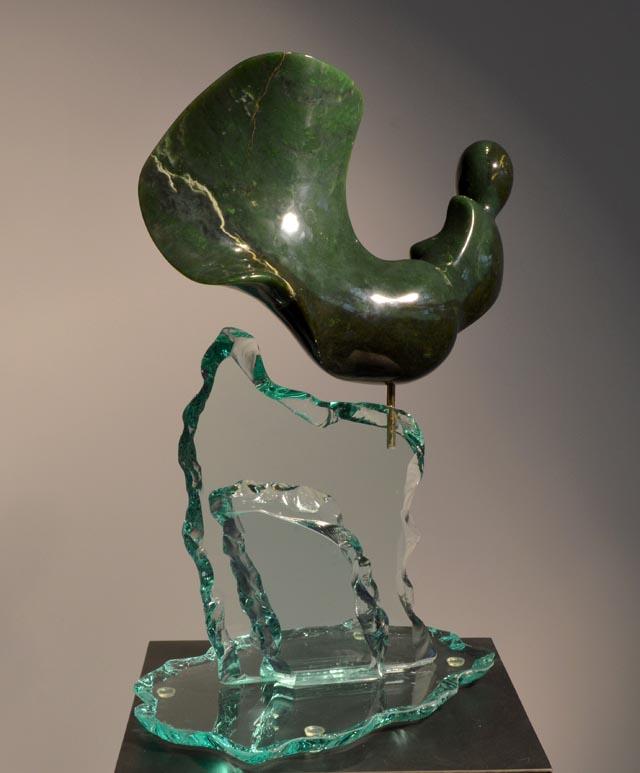 michael binkley sculptor stone sculpture female nude fine art jade vancouver canada