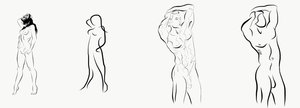 michael binkley sculptor stone sculpture draw drawing adobe sketching nude