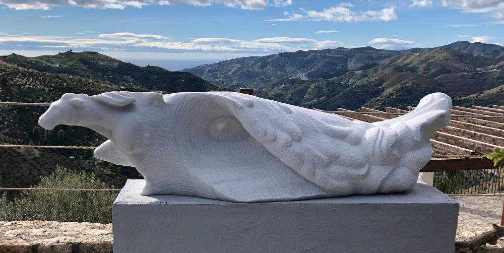 michael binkley sculptor stone sculpture andalusia spain kitty harri sculpture garden international public art