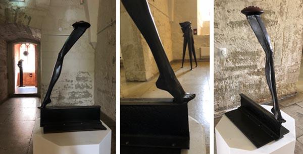 michael binkley sculptor stone sculpture estonia kuressaare steel exhibition