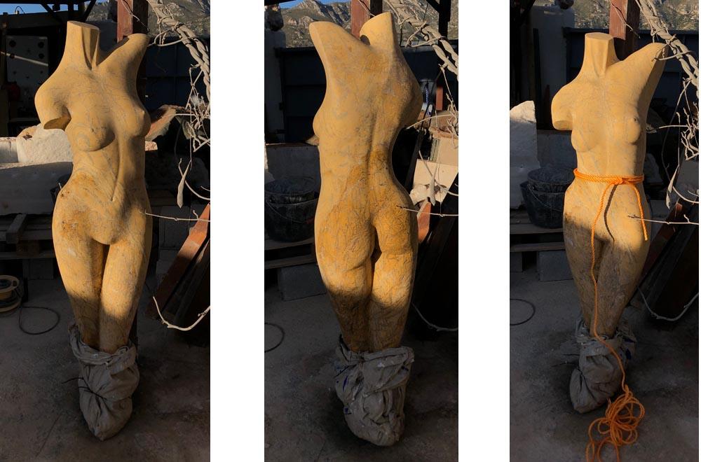 michael binkley sculptor stone sculpture residency andalusia spain