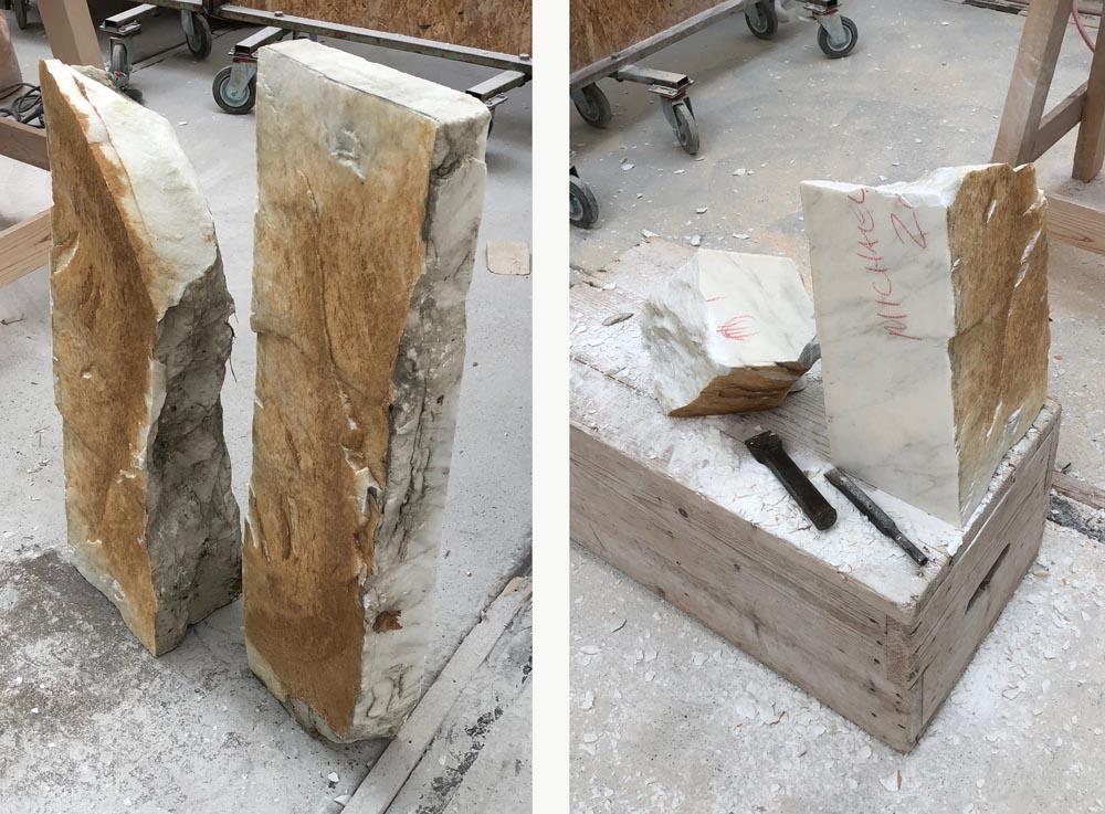 michael binkley sculptor stone sculpture marble seravezza italy studio carving sculpting