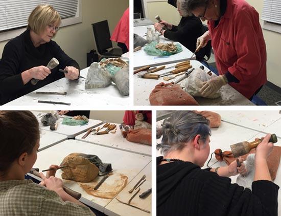 michael binkley sculptor in stone carving workshop instruction class