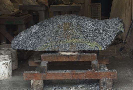 michael binkley sculptor stone sculpture granite slug bc children's hospital vancouver